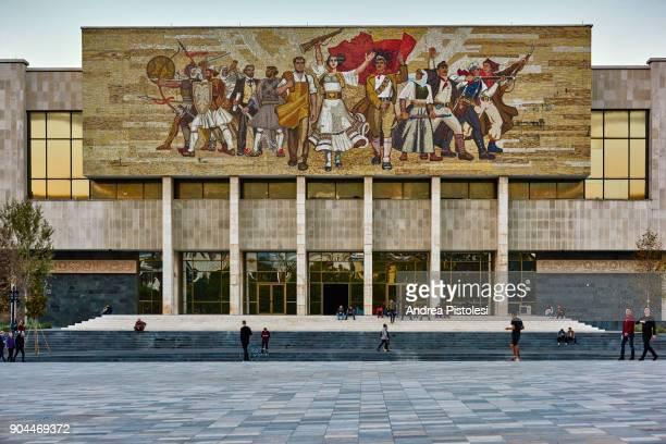 national history museum, tirana, albania - tirana stock pictures, royalty-free photos & images