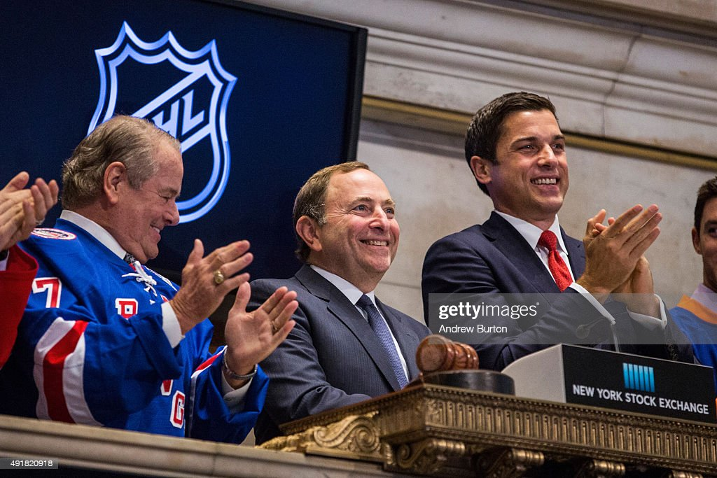 National Hockey League Commissioner Gary Bettman Rings The Opening