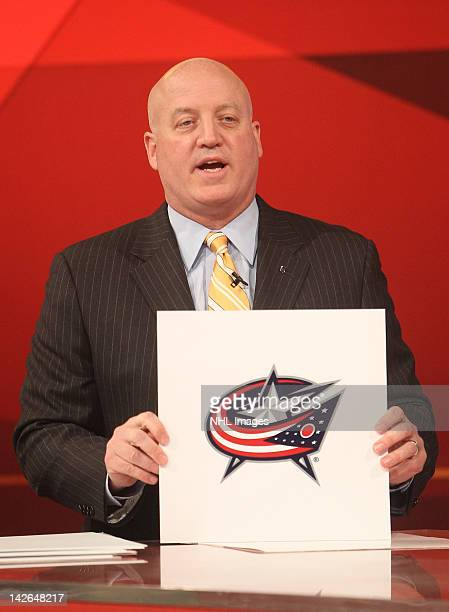 National Hockey League Deputy Commissioner Bill Daly announces the number two pick in the NHL Draft Lottery goes to the Columbus Blue Jackets on...