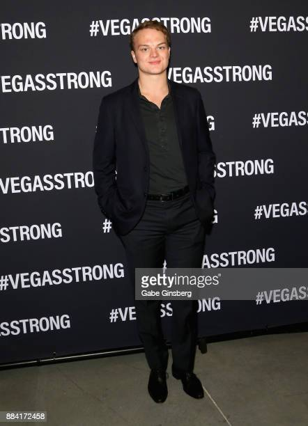 National Hockey League player Reid Duke attends the Vegas Strong Benefit Concert at T-Mobile Arena to support victims of the October 1 tragedy on the...
