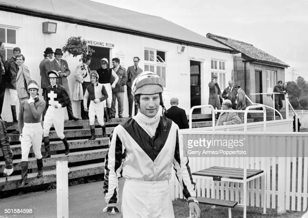 National Hunt Jockey Bob Champion at Worcester racecourse 15th September 1975