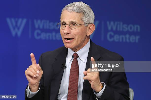 National Institute of Allergy and Infectious Director Anthony Fauci participates in a discussion on 'Zika in the U.S.: Can We Manage the Risk?' at...