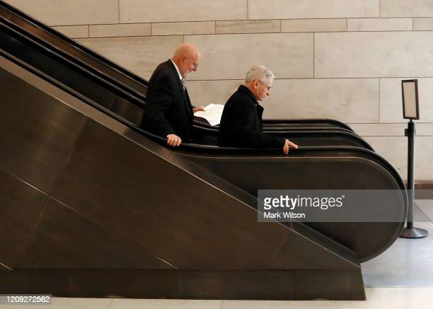 National Institute of Allergy and Infectious Diseases Director Anthony Fauci and Director of the Centers for Disease Control Robert Redfield MD ride...