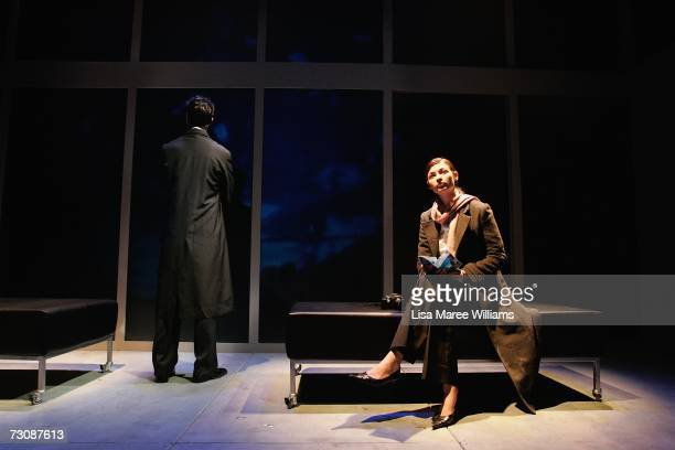 National Institute of Dramatic Art acting students Garth Holcombe and Beth Aubrey rehearse for the stage production of Closer 2006 October 2 2006 in...