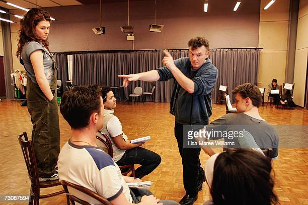National Institute of Dramatic Art acting students rehearse for the stage production of The Laramie Project under the direction of Tom Healey 2006...
