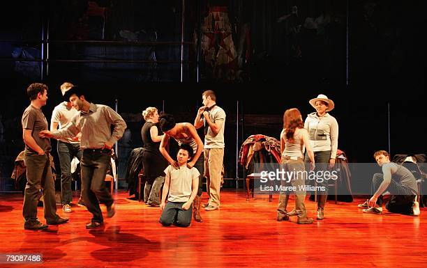 National Institute of Dramatic Art acting students take a break during rehearsals for the stage production of 'The Laramie Project' 2006 October 4...
