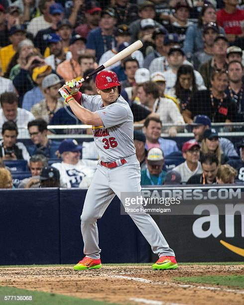 National League AllStar Aledmys Diaz of the St Louis Cardinals bats during the 87th MLB AllStar Game at Petco Park on Tuesday July 12 2016 in San...