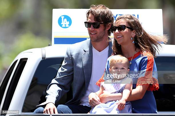 National League AllStar Clayton Kershaw of the Los Angeles Dodgers looks on during the 2016 AllStar Red Carpet Show presented by Chevrolet in...