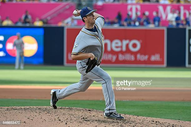 National League AllStar Drew Pomeranz of the San Diego Padres pitches during the 2016 MLB AllStar Game at Petco Park on Tuesday July 12 2016 in San...