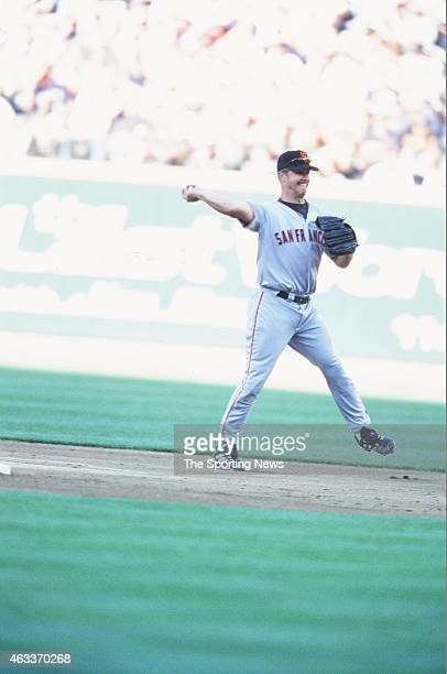 National League AllStar Jeff Kent fields during the 2001 MLB AllStar Game at Safeco Field on July 10 2001 in Minneapolis Minnesota