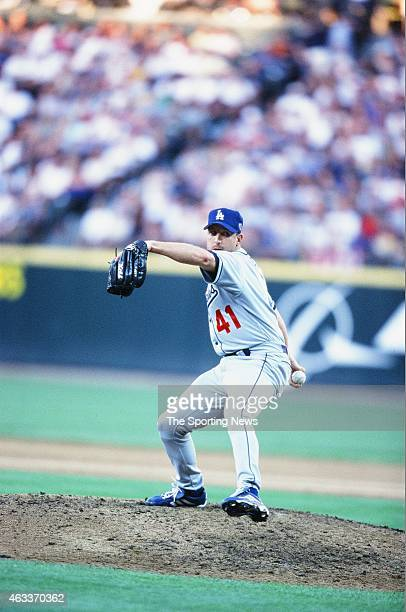 National League AllStar Jeff Shaw pitches during the 2001 MLB AllStar Game at Safeco Field on July 10 2001 in Minneapolis Minnesota