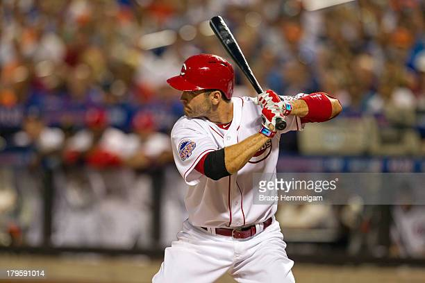 National League AllStar Joey Votto of the Cincinnati Reds bats during the 84th MLB AllStar Game on July 16 2013 at Citi Field in the Flushing...