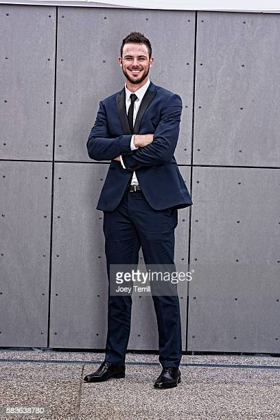 National League AllStar Kris Bryant of the Chicago Cubs poses for a portrait as he enters Petco Park following the Red Carpet parade before the 2016...