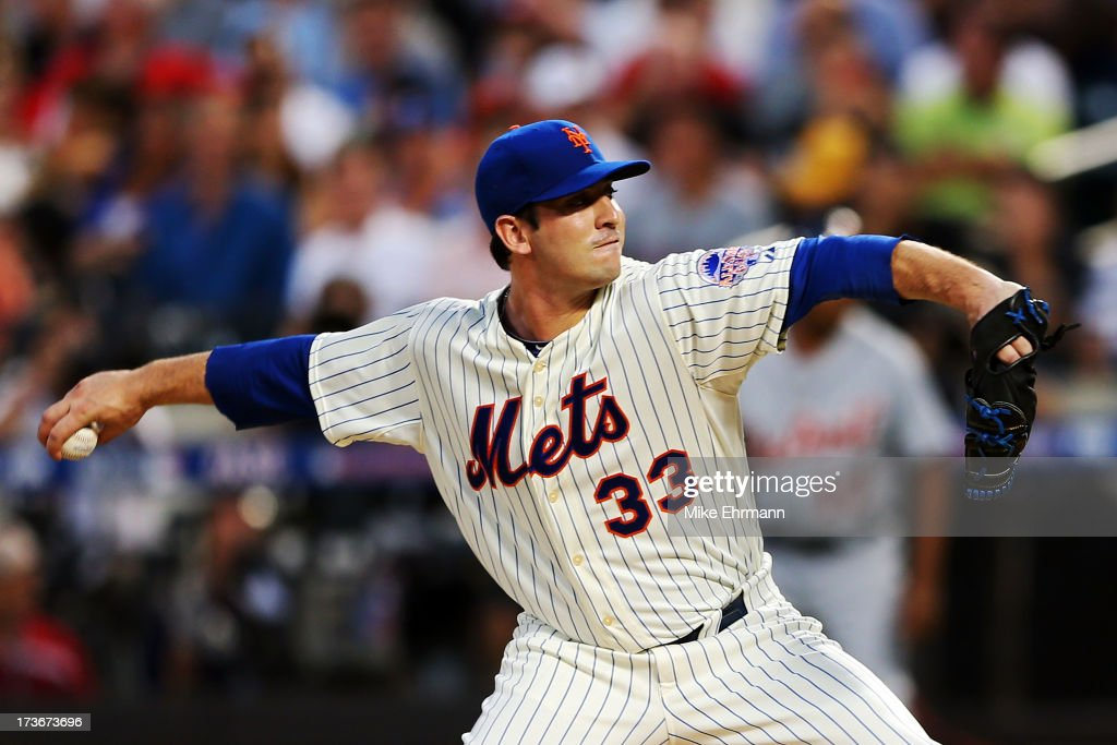 National League All-Star Matt Harvey #33 of the New York Mets pitches during the 84th MLB All-Star Game on July 16, 2013 at Citi Field in the Flushing neighborhood of the Queens borough of New York City.