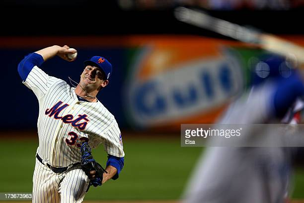 National League All-Star Matt Harvey of the New York Mets pitches during the 84th MLB All-Star Game on July 16, 2013 at Citi Field in the Flushing...