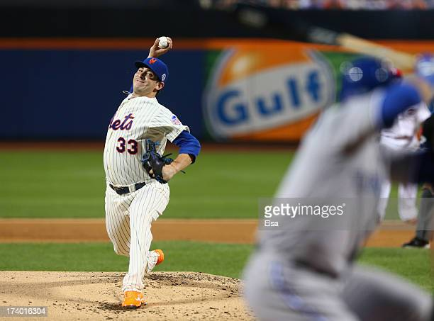National League All-Star Matt Harvey of the New York Mets pitches against the American League All-Stars during the 84th MLB All-Star Game on July 16,...