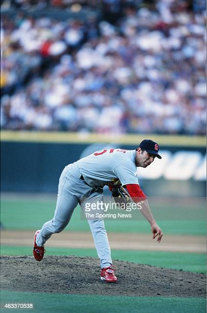 National League AllStar Matt Morris pitches during the 2001 MLB AllStar Game at Safeco Field on July 10 2001 in Minneapolis Minnesota