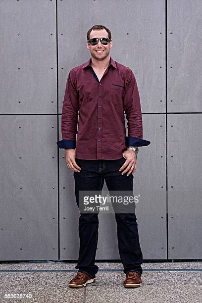 National League AllStar Paul Goldschmidt of the Arizona Diamondbacks poses for a portrait as he enters Petco Park following the Red Carpet parade...