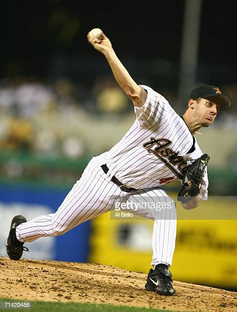 National League AllStar Roy Oswalt of the Houston Astros pitches during the 77th MLB AllStar Game at PNC Park on July 11 2006 in Pittsburgh...