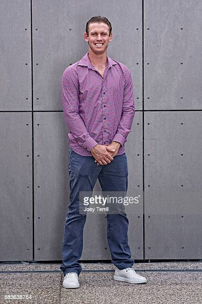 National League AllStar Stephen Strasburg of the Washington Nationals poses for a portrait as he enters Petco Park following the Red Carpet parade...
