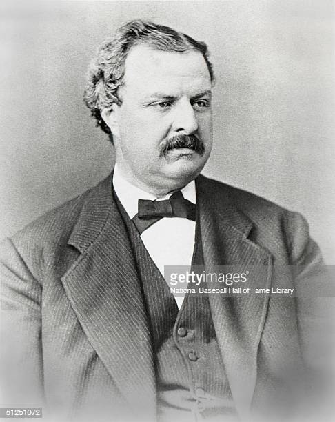National League Founder William Hulbert poses for portrait circa 1876.