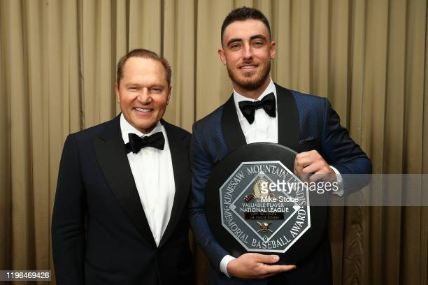 National League MVP Cody Bellinger of the Los Angeles Dodgers and Sports Agent Scott Boras poses for a photo during the 97th annual New York Baseball...