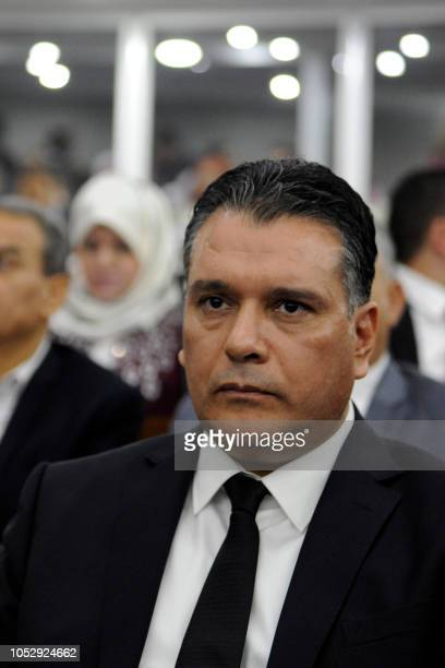 National Liberation Front's member and newly elected president of parliament Mouad Bouchareb attends a voting at the Algerian National Assembly on...