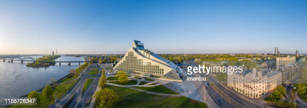 national library of latvia - riga stock pictures, royalty-free photos & images
