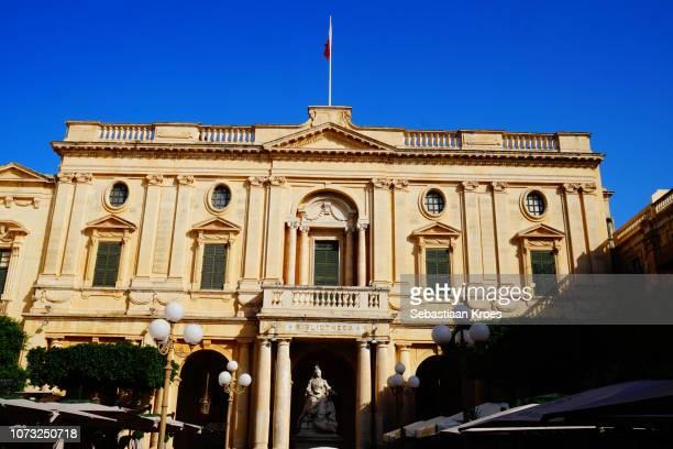 National Library of Malta and Queen Victoria, Valletta, Malta