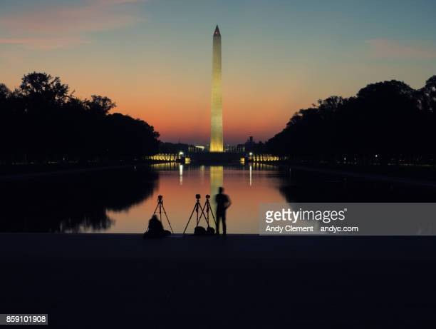 national mall sunrise - andy clement stock photos and pictures
