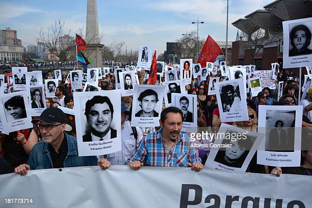 National March in commemoration of the 40th anniversary of the military coup in Chile 1973