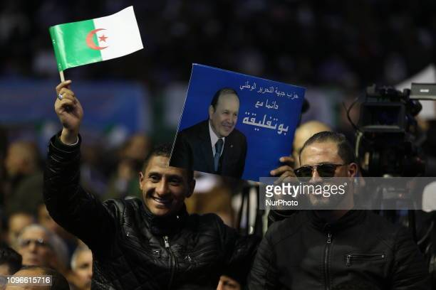 National meeting of the members of the National Liberation Front party in Algiers Algeria on 09 February 2019 to appeal to Abdelaziz Bouteflika to...