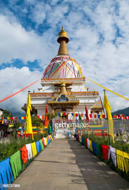 national memorial chorten (stupa) in bhutan. - thimphu stock pictures, royalty-free photos & images
