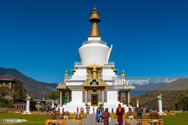 national memorial chorten, thimphu, bhutan - ティンプー ストックフォトと画像