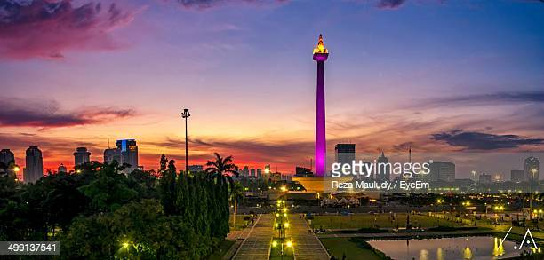 National Monument of Jakarta at sunset