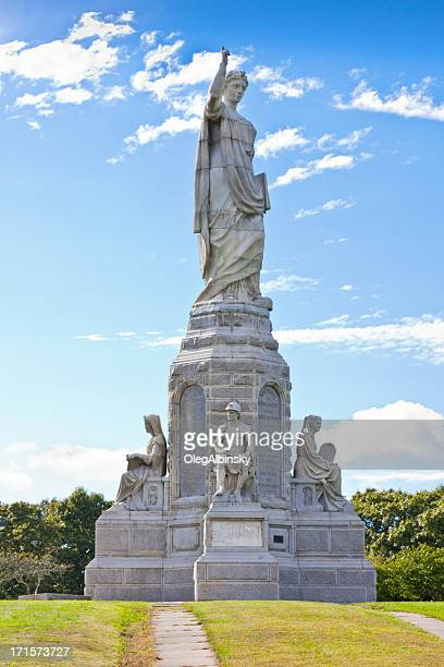 national monument to the forefathers - plymouth massachusetts stock photos and pictures