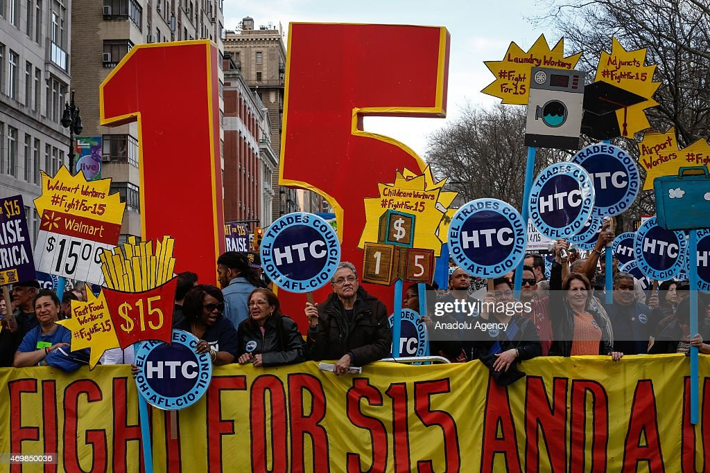 'Fight For $15' protest in New York : News Photo