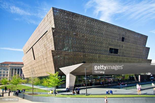national museum of african american history and culture building in washington dc, usa - history museum stock pictures, royalty-free photos & images