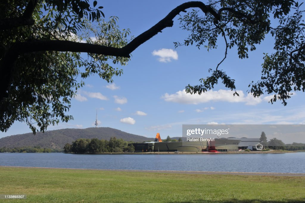 National Museum of Australia and Telstra Tower Canberra : Stock Photo