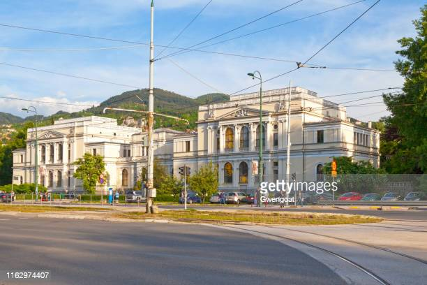 national museum of bosnia and herzegovina in sarajevo - gwengoat stock pictures, royalty-free photos & images