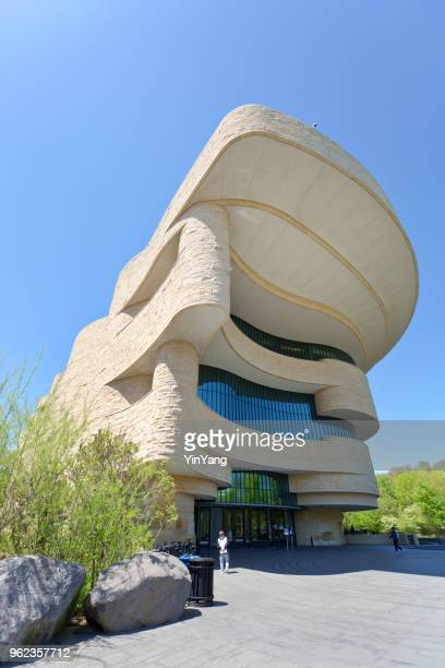 national museum of the american indian building in washington dc, usa - smithsonian institution stock pictures, royalty-free photos & images