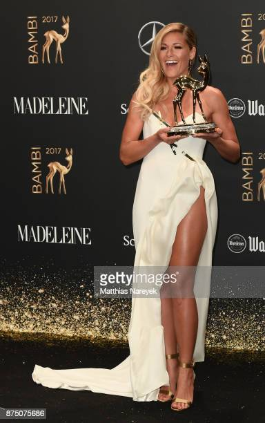 'National Music' Award Winner Helene Fischer at the Bambi Awards 2017 winners board at Stage Theater on November 16 2017 in Berlin Germany