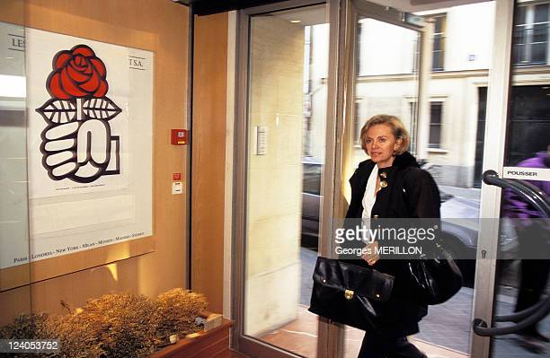 National office of French Socialist Party In Paris France On April 23 1997 Elisabeth Guigou