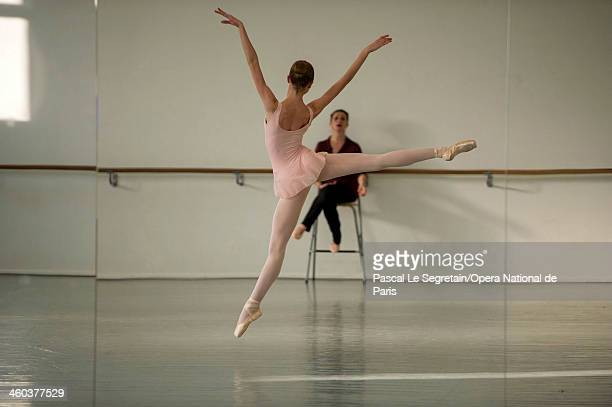 National Opera Ballet School student practices during a dance lesson at the National Opera Ballet School on February 27 2013 in Nanterre France The...