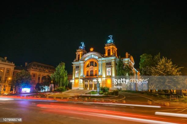 national opera building in cluj- napoca, romania, europe - roménia imagens e fotografias de stock