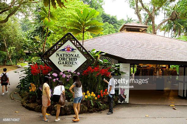 national orchid garden - singapore botanic gardens stock photos and pictures