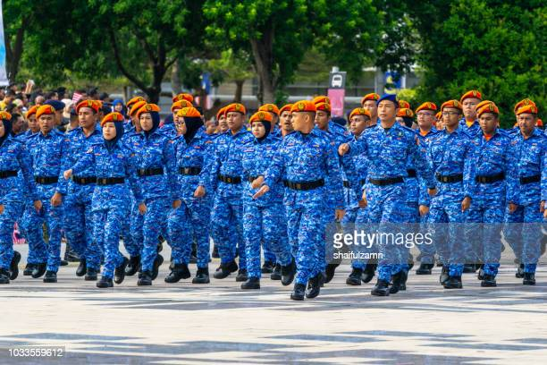 National parade from multi people and agencies takes part during the 61st Independence Day celebration held at the administrative capital of Putrajaya.