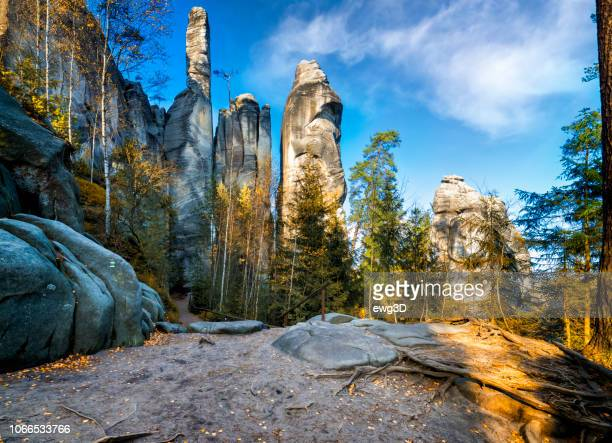 national park adrspach-teplice rocktown - bohemia czech republic stock pictures, royalty-free photos & images