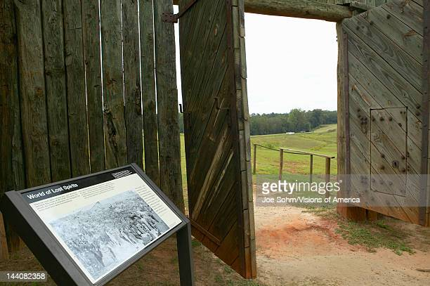 National Park Andersonville or Camp Sumter a National Historic Site in Georgia site of Confederate Civil War prison and cemetery tombstones for...