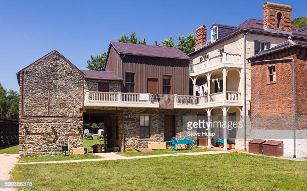 national park service owns and operates the historic civil war town of harpers ferry, west virginia, usa - protohistory_of_west_virginia stock pictures, royalty-free photos & images